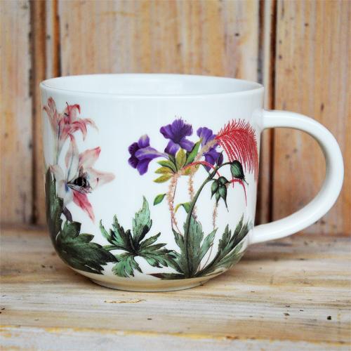 Cs/4 - Kew Bee Floral White Mug