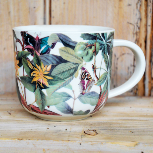 Cs/4 - Kew Midnight Floral White Mug