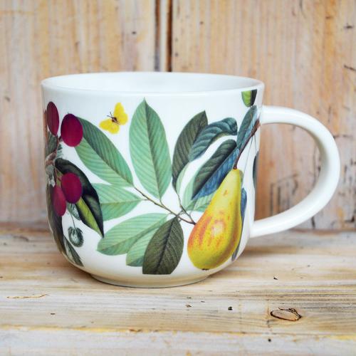 Cs/4 - Kew Fruit and Floral White Mug