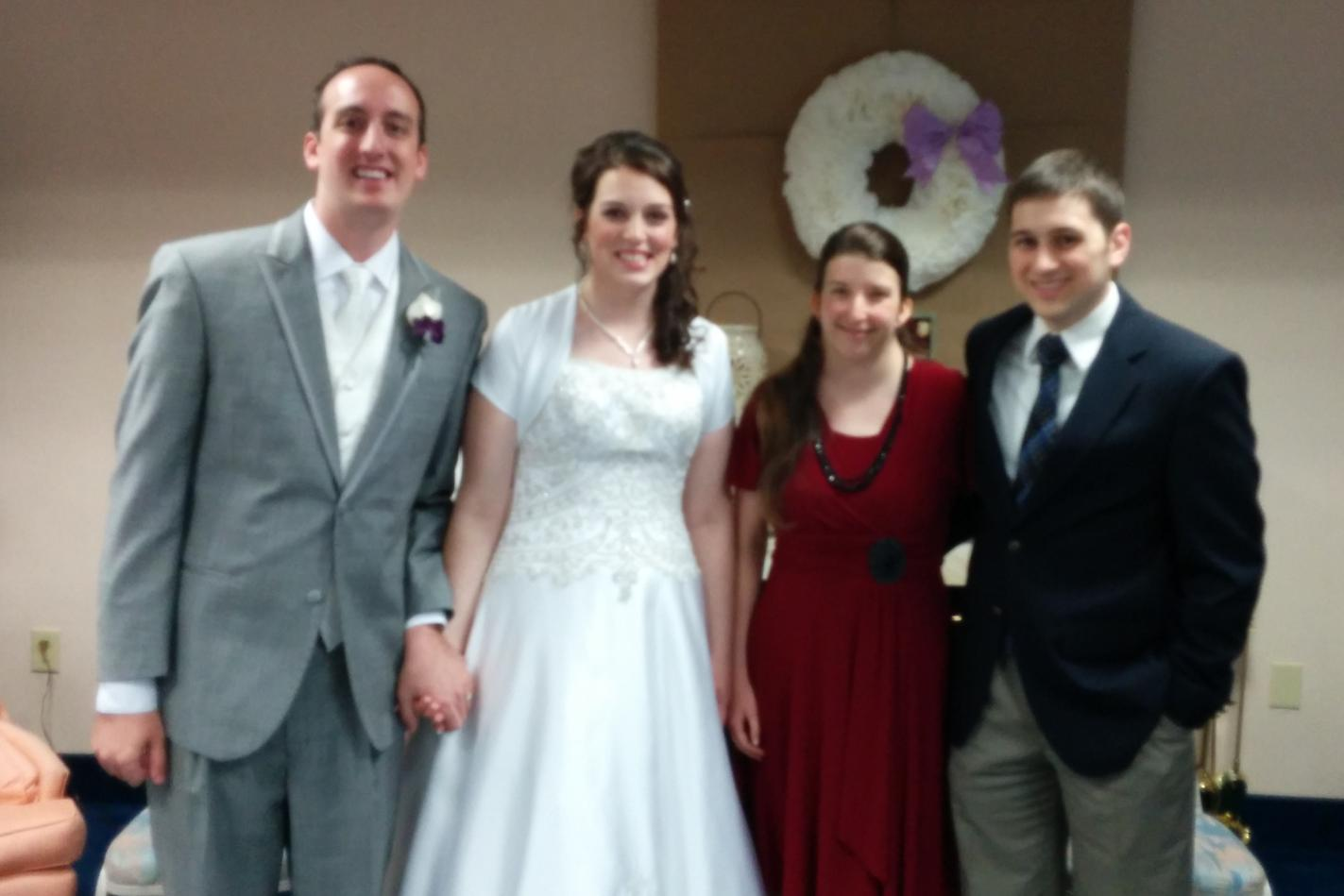 Jonathan and Janae Sparks at their wedding reception