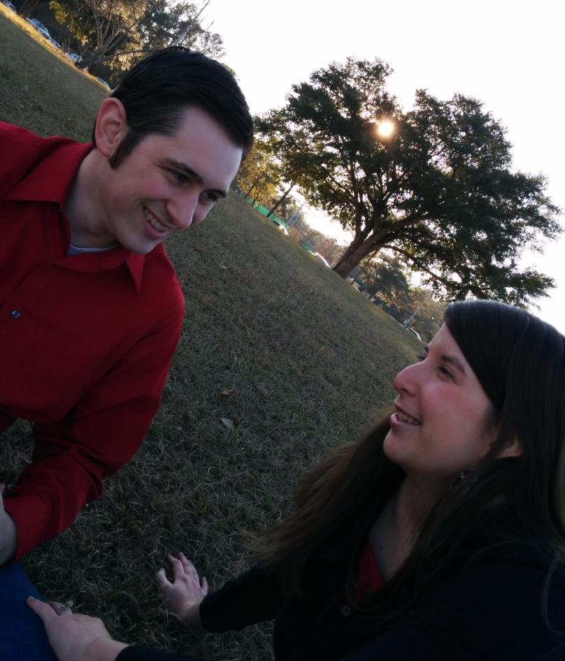 Brian and Melissa at park