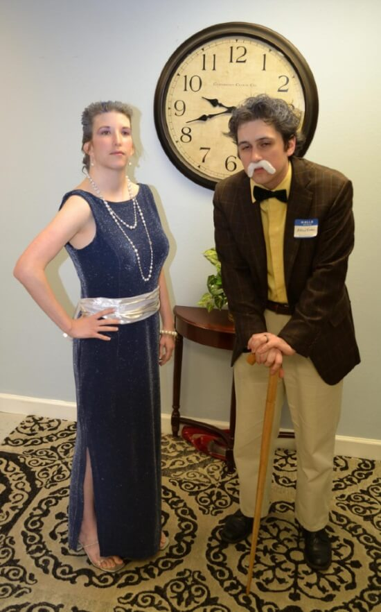 Brian and Melissa at the Murder Mystery Party
