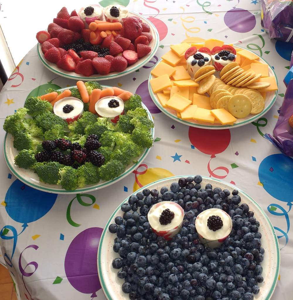 Sesame Street-themed snacks