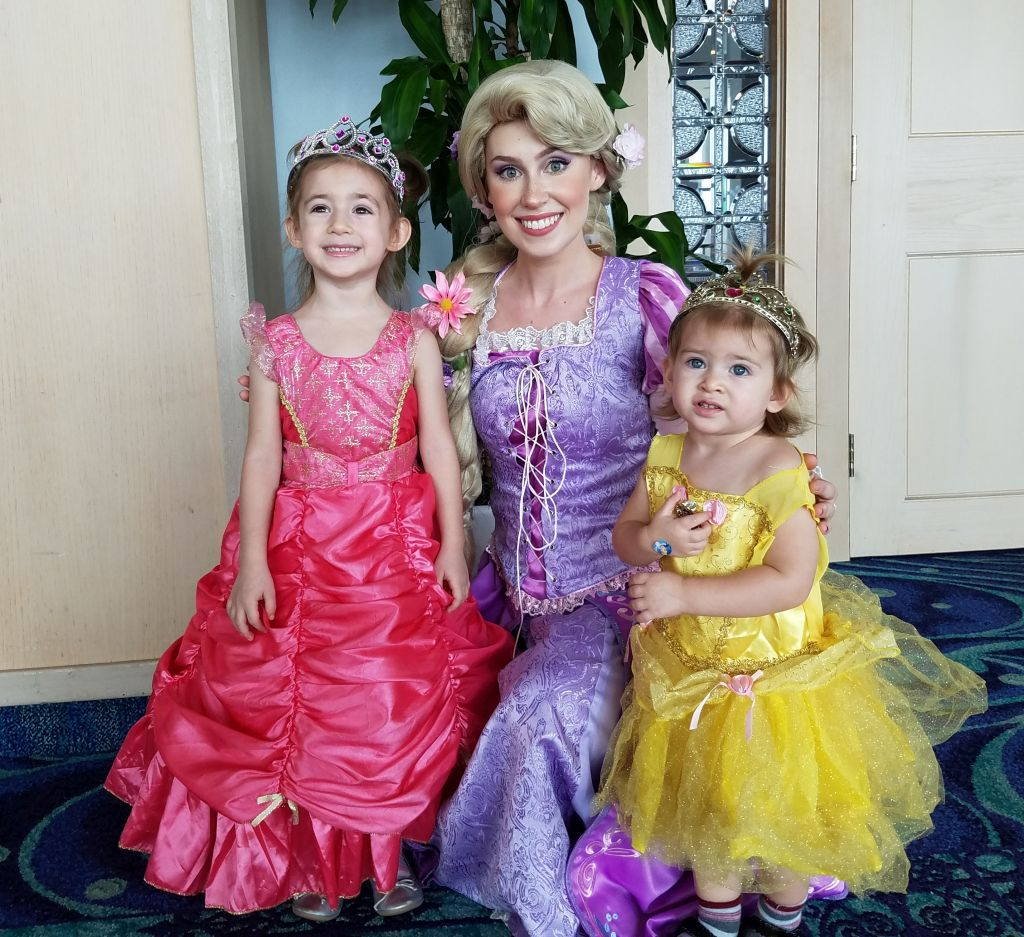 Lydia and Amber with Rapunzel