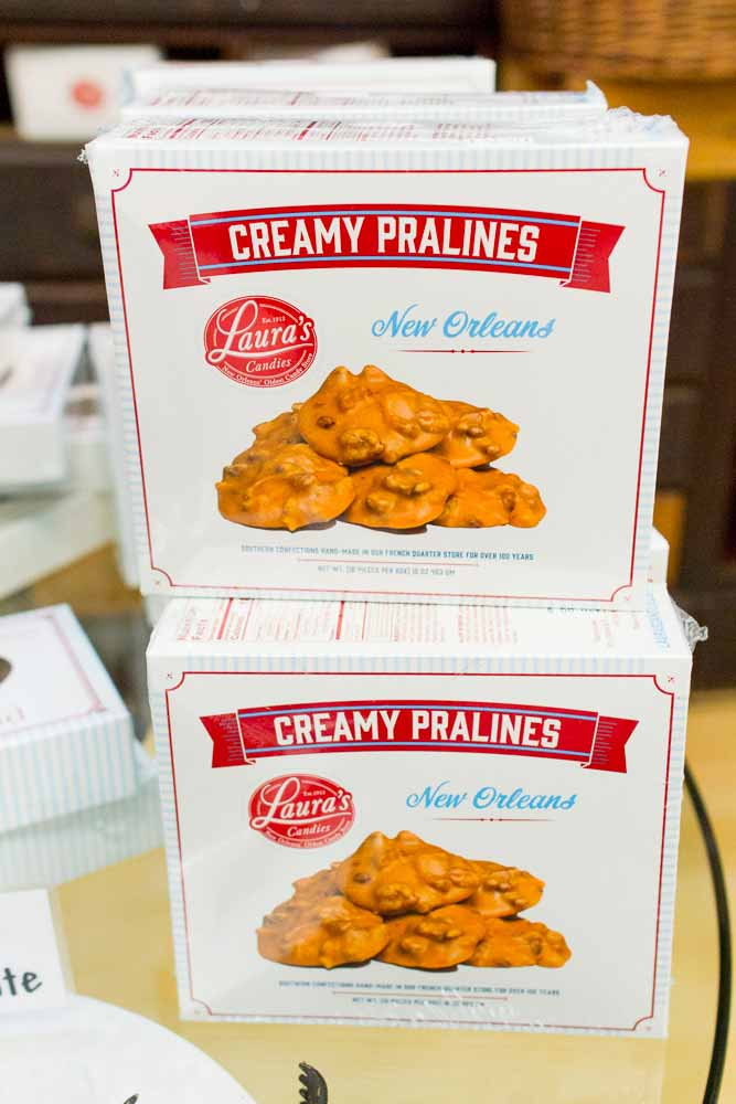 creamy pralines in a box