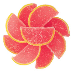 Pink Grapefruit Fruit Jellies