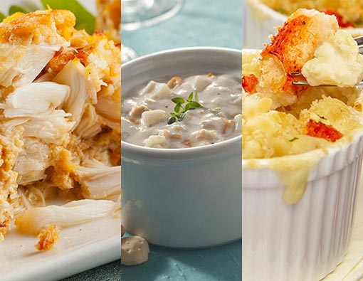 Crab Cakes, Chowder, and Lobster Mac & Cheese
