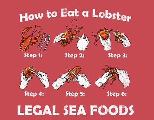 """How To Eat A Lobster"" T-Shirt"