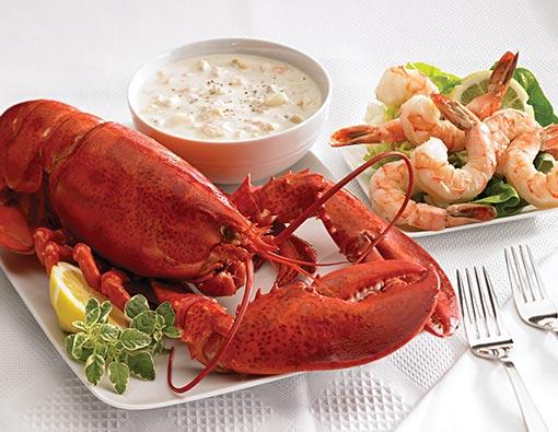 Lobster, Shrimp, and Chowder
