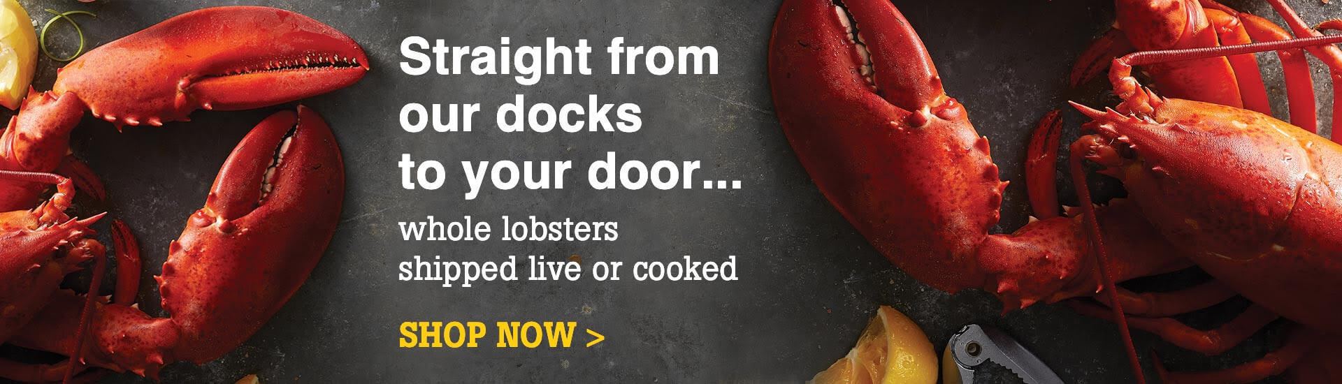 Fresh Lobsters - delivered straight from our docks to your door