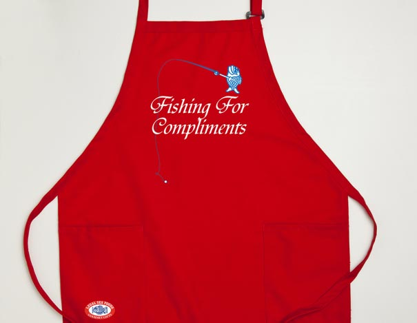 Red Freddie the Fish Apron
