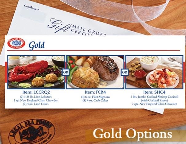Gold Dinner Gift Certificate