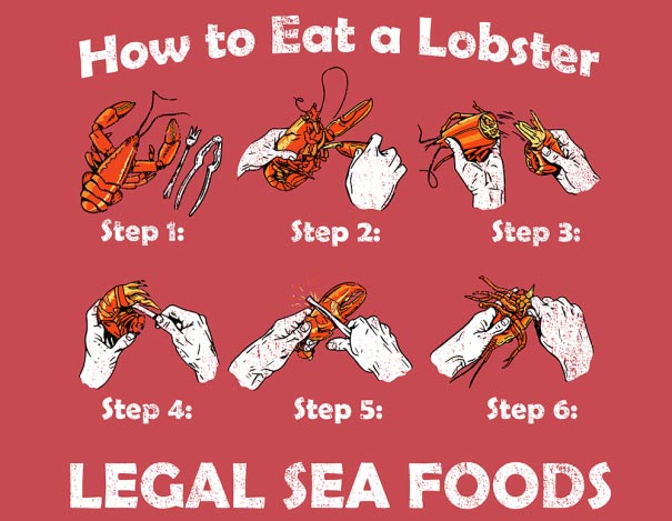 """""""How To Eat A Lobster"""" T-Shirt"""