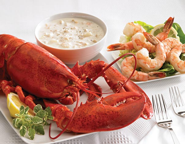 Lobster, Shrimp, and Chowder