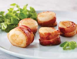 bacon wrapped scallops