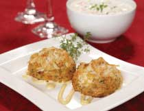Crab Cakes and Clam Chowder for Four