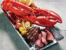 Filet and Lobster for Two (1.25 lb. Lobsters)