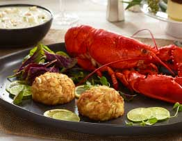Lobster, Chowder, and Crab Cakes