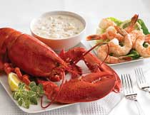 Lobster, Shrimp, and Chowder for Two (1.25 lb. Lobsters)