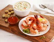 Shrimp Cocktail and Clam Chowder for Two