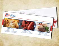 Gift Certificate for the Silver Dinner