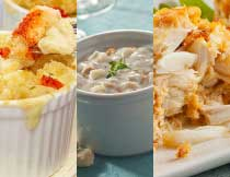 Crab Cakes, Clam Chowder, and Lobster Mac & Cheese for Two