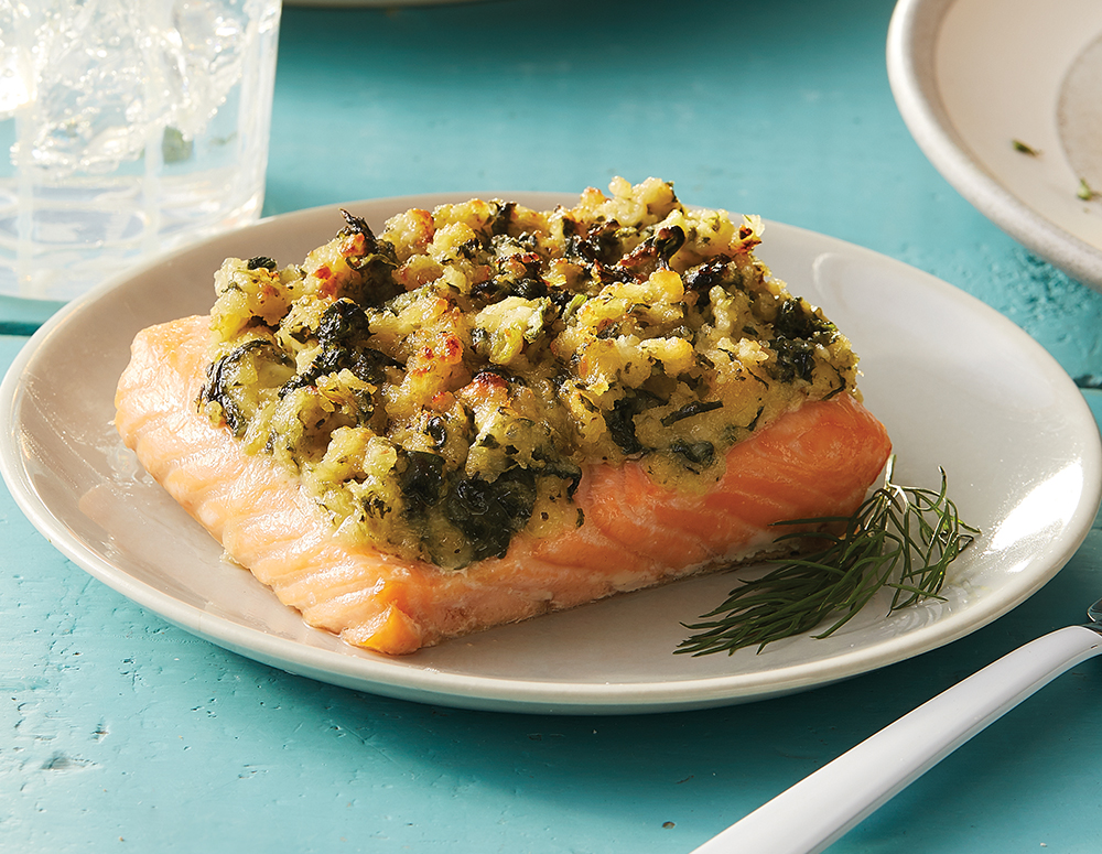 6 oz. Garlic Spinach Salmon- 6 pack