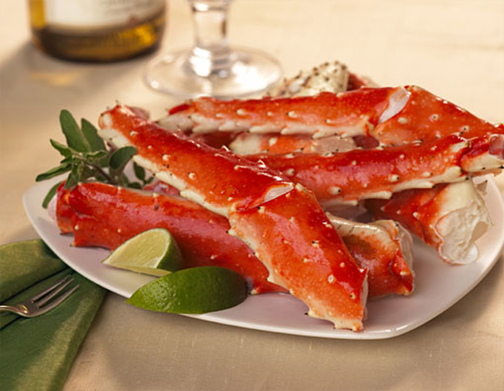 1.25 lb. King Crab Legs- ( 4-5 assorted pieces)