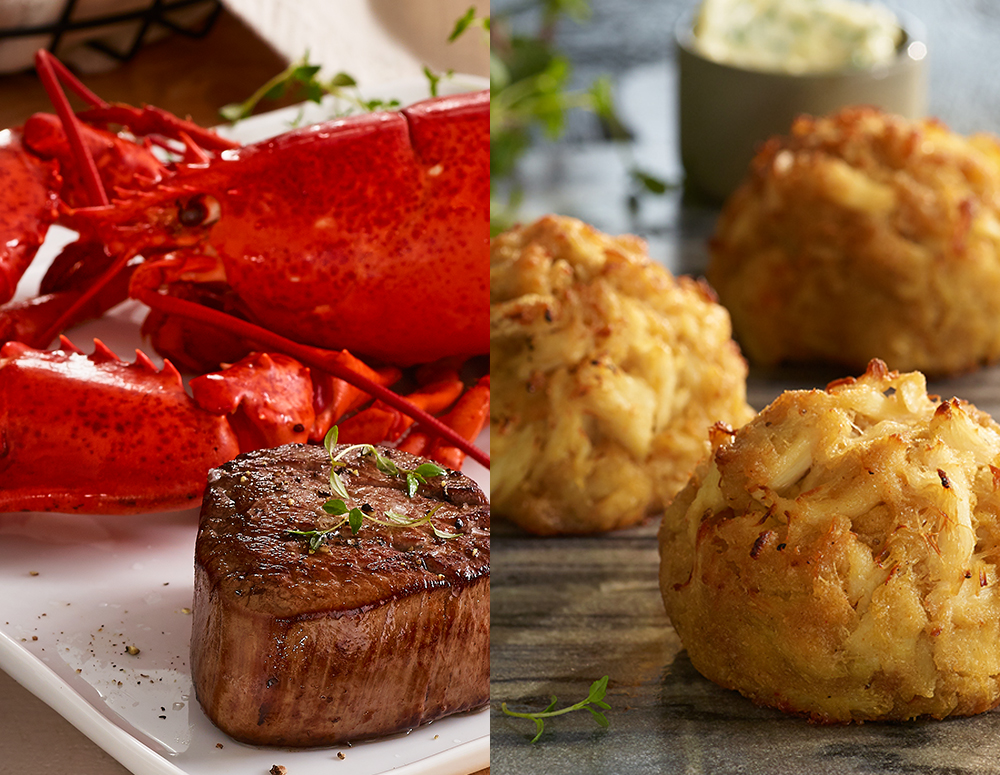 Lobster, Filet, and Crab Cakes