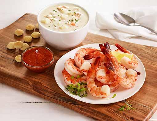 Shrimp Cocktail & Clam Chowder