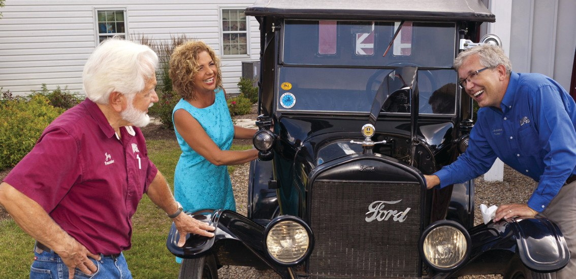 Lehman's Family with Model-T Ford