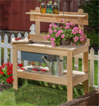 USA Made Cypress Potting Table