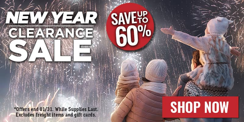 Save Up to 50% on Our New Year's Clearance Sale