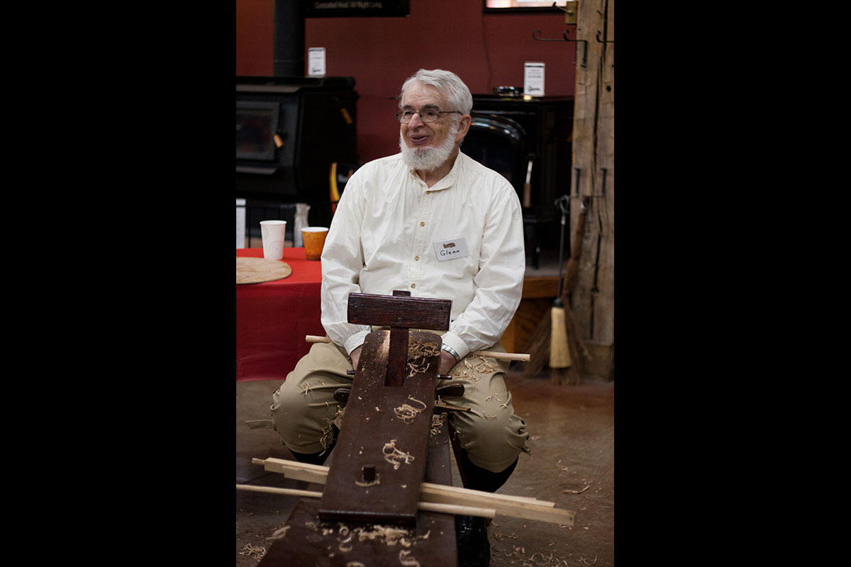 Glen, long time employee and family member, is also a very talented wood carver.