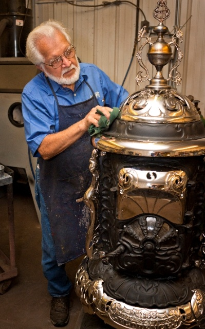 A true artisan, most of the museum-quality antique in the store have been painstakingly restored by Jay Lehman.