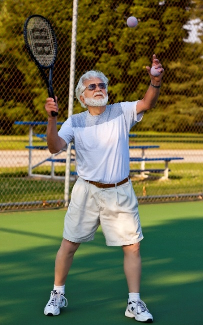 At almost 90 years of age, Jay Lehman still plays tennis twice a week. And he is wicked good - there is a rumor going around that he got demoted from the over 80 league to the over 70 league because he was unstoppable.