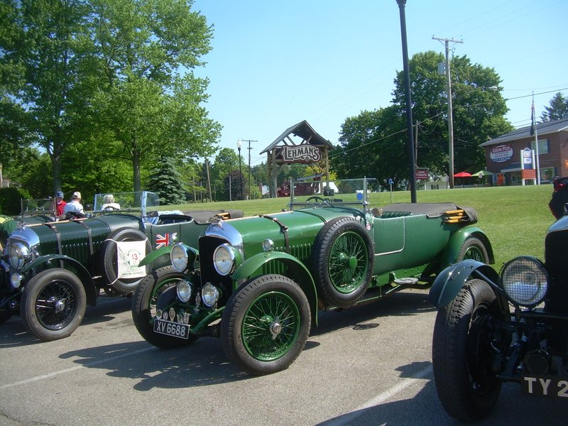 Vintage Bentleys visiting Lehman's in Kidron, Ohio