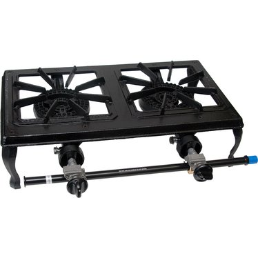 Two Burner Cast Iron LP Cooker