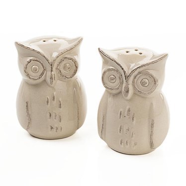 Owl salt pepper shakers dinnerware lehman 39 s - Owl salt and pepper grinders ...