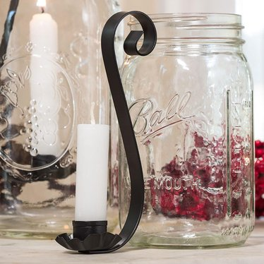 Taper Candle Hooks for Regular-Mouth Quart Jars