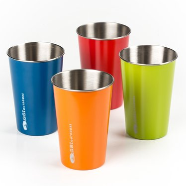 Color-Coded Stainless Drinkware Set