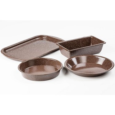 Brown Enamelware Baking Set