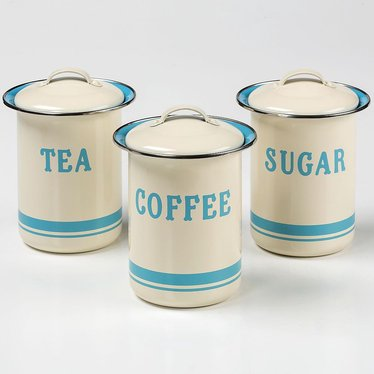 Jamie Oliver Coffee, Tea and Sugar Tin Set
