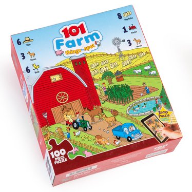 101 Farm Things to Spot Jigsaw Puzzle