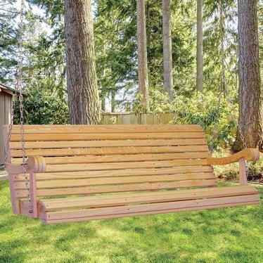 Cypress 5 Foot Hanging Amish Porch Swing - Cypress 5 Foot Hanging Amish Porch Swing, Outdoor Furniture - Lehman's