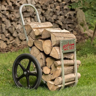 Amish-Made Wood Cart