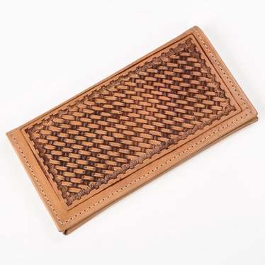 Woven Brown Rodeo Wallet