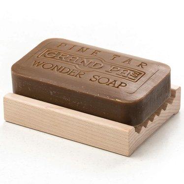 Ridged Hardwood Soap Dish