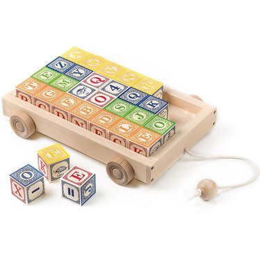 Classic ABC Blocks with Pull Wagon