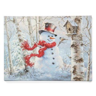 Light-Up Snowman Canvas